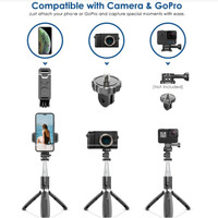 TONGSIS MINI TRIPOD FOR HP OR ACTION CAM WITH BLUETOOTH REMOTE 100cm