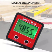 Small Cube Angle Gauge Meter Inclinometer Digital Protractor leve box