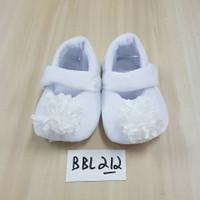 Baby Shoes Ballet Sepatu Bayi Perempuan Putih Bahan Bulu Hangat