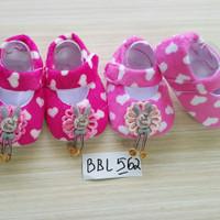 Baby Shoes Sepatu Ballet Perempuan Pink Cantik Bahan Bulu