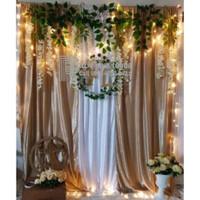 Kain backdrop lamaran/nikahan/wedding 2x2