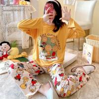 Baju Tidur Wanita Kaos Import Premium PP Snoopy Friend / Piyama XL