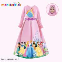 Gamis Princess Anak Perempuan 10 - 13 Tahun Baju Muslim Karakter KM28D