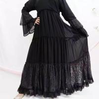New Abaya Gamis Maxi Dress Arab Saudi Bordir Zephy Turki Umroh Dubai T