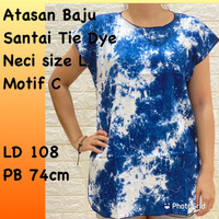 Atasan Santai Baju Bali Tie Dye size L gradasi C