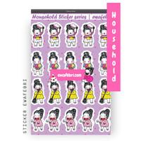 Sticker Bullet Journal Cute Household Series   Transparant