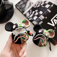 Tide brand camouflage shark bappe airpods gen 1 2 silicone earphone