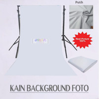 Kain Background Polos Foto Studio Backdrop 100x240 cm Putih