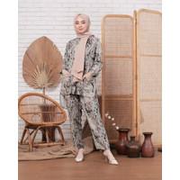 Piyama Set Wanita Katun Rayon Premium Baju Tidur Kemeja Motif Fit ToXL
