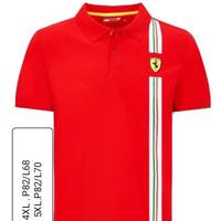 polo shirt-kaos kerah -tshirt big size ferrari 2XL 3XL 4XL 5XL BESAR