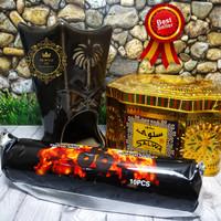 Tempat Dupa Bukhur Kramik Paket Buhur Salwa Arang Magic Super Hemat