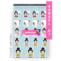 Sticker Bullet Journal Cute Bowgel Series 03   Transparant