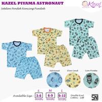 Kazel - ASTRONAUT 3 Stel Baju Pendek Kancing Pundak + Celana Pendek