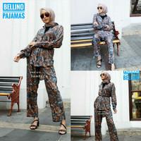 1Set Pajamas Premium Sameca Piyama Wanita Daily Set Muslimah Panjang