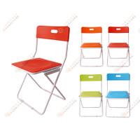 Kursi lipat / Makan / Kerja / Kafe / Folding outdoor Warna - Biru Muda