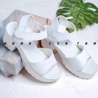 high heels remaja dewasa docmart hitam putih sepatu sandal casual