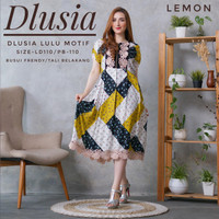 Daster Arab Dlusia Lulu Motif by Dlusia Original - Lemon