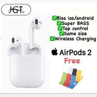 Airpods Gen 2 Earphone Apple ios dan Android Bass FREE GIFT
