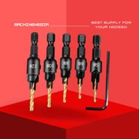 Mata Bor Drill Bit Countersink HSS 1.98-3.56mm 5 PCS - SV-VDB26