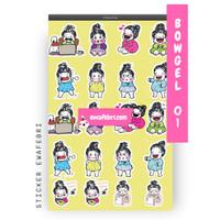 Sticker Bullet Journal Cute Bowgel Series 01   Transparant