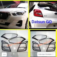 paket garnis list lampu depan belakang DATSUN GO hitam jsl