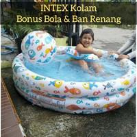 Intex Kolam Anak Bonus Bola & Ban Renang Mainan Berenang Mandi Edukasi