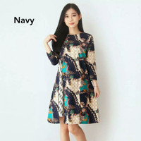 Baju Batik Wanita-Dress Batik Wanita Motif Merak Frolar Size M dan L