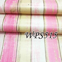 wallpaper stiker dinding motif kayu pink MIX gold