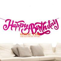 banner happy birthday latin fanta / bunting flag hbd latin cutting 2