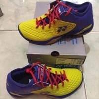 hot sales Sepatu Badminton Yonex SHB 03 Z Men Yellow Blue Original