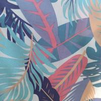 kain bahan baju meteran katun rayon motif tropical garden