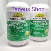 Natures Way Ginkgo Biloba 2000mg 120 Tablet kapsul Kapsul