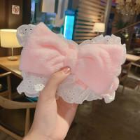 Bandana Bando Hair Band / Wajah Mencuci Ikat Kepala Aksesoris Rambut - Merah Muda
