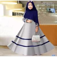 LISTY SYARI KIDS BO Baju Muslim Gamis Anak Perempuan Usia 9 - 12 TAHUN