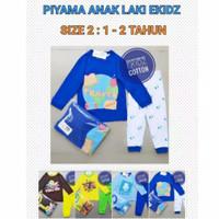 Setelan Piyama Anak Laki Ekidz Baju Tidur Cowok - 1 - 2 Tahun