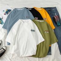 Kaos Baju Fashion Wanita Shirt Kemeja Blouse Atasan Oversized Monokrom