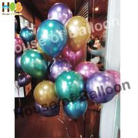 Balon Latex Karet Metalik / Metalic Balloon CHROME 12inch Per Pack