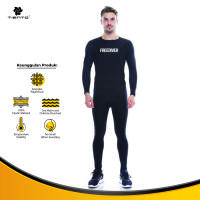 Tiento Baju Kaos Baselayer Manset Freediver Celana Leging Legging 1Set