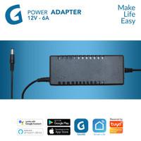 GALVEE Power Adaptor 12V - 6A for Led Strip up to 10 Meter / 10M