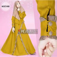 MOANA SYARI KIDS BO Baju Muslim Gamis Anak Perempuan Usia 9 - 12 TAHUN