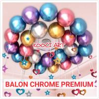 Balon chrome/balon latex chrome metalik/balon latex premium