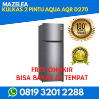 KULKAS 2 PINTU AQUA AQR D270 ( PROMO FREE ONGKIR )