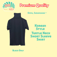 Turtle Neck Lengan Pendek Kaos Pria / Turtle Neck Short Sleeve Shirt