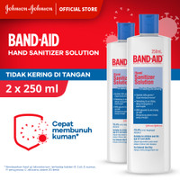 Band Aid Hand Sanitizer Solution 250 ml - isi 2
