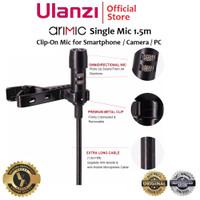 ULANZI Arimic Single Mic 1.5m Clip On Lav Mic for Smartphone Camera PC