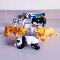 Set Mainan Hewan Ukuran Besar - Paket Kebun Binatang Animal karet anak