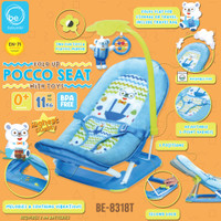Bouncer Babyelle Fold Up Pocco Seat with Toys BE-8318T - Biru