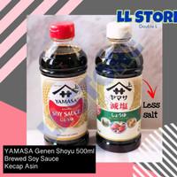 YAMASA Genen Shoyu Soy Sauce 500ml Less Salt Kecap Asin Jepang