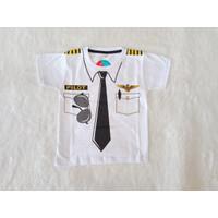 Kaos Anak Laki-Laki Profesi Dokter Pemadam Pilot Poiisi Baju Tshirt - Pilot, 4