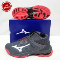 Sepatu Volly Mizuno WLZ 5 Mid Wave Lighting Z 5 Sepatu Voli Abu Merah